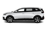 Car driver side profile view of a 2019 Peugeot 5008 Allure 5 Door SUV