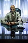 Regional Director of Plantation Human Development board, Wijeratne poses for a photo in his office in Nuwareliya in Central Sri Lanka.  Photo: Sanjit Das/Panos
