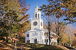 Autumn at the Church on the Hill, Lenox, Berkshire Hills, MA, USA