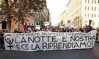 Manifestazione nazionale contro la violenza maschile sulle donne, a Roma, 28 novembre 2009..National demonstration against male violence on women, in Rome, 28 november 2009..UPDATE IMAGES PRESS/Riccardo De Luca