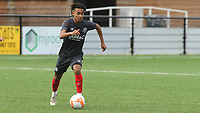 Julien Carre of Brentford B in action during Bromley vs Brentford B, Friendly Match Football at Hayes Lane on 3rd October 2020