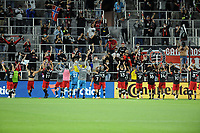 WASHINGTON, DC - MAY 13: D.C. United salutes the fans after a game between Chicago Fire FC and D.C. United at Audi FIeld on May 13, 2021 in Washington, DC.