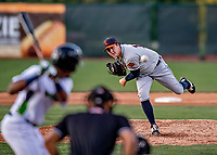 29 August 2019: Connecticut Tigers pitcher Jack O'Loughlin on the mound against the Vermont Lake Monsters at Centennial Field in Burlington, Vermont. The Tigers defeated the Lake Monsters 6-2 in the first game of their NY Penn League double-header.  Mandatory Credit: Ed Wolfstein Photo *** RAW (NEF) Image File Available ***