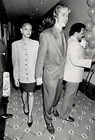 1987 FILE PHOTO - ARCHIVES -<br /> <br /> Orphans star Matthew Modine arrives with wife Cari, who sports a Giorgio Armani suit<br /> <br /> 1987<br /> <br /> PHOTO :  Erin Comb - Toronto Star Archives - AQP