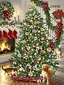 Dona Gelsinger, CHRISTMAS SYMBOLS, WEIHNACHTEN SYMBOLE, NAVIDAD SÍMBOLOS,fireplace,chimney,dog, paintings+++++,USGE1940B,#xx#