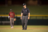Field umpire Ethan Gorsak during an Arizona League game between the AZL Diamondbacks and AZL Cubs 1 at Sloan Park on June 18, 2018 in Mesa, Arizona. AZL Diamondbacks defeated AZL Cubs 1 7-0. (Zachary Lucy/Four Seam Images)