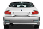 Straight rear view of a 2009 BMW 5 Series 528
