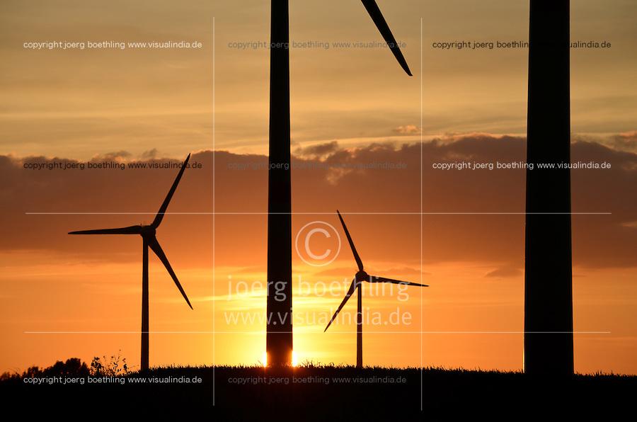 GERMANY Parchim, Enercon wind turbine / DEUTSCHLAND, Windkraftanlage Enercon