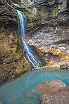 Buffalo National River, Arkansas:<br /> Eden falls and blue pool on Eden Creek, Lost Valley