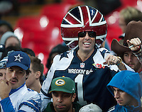 09.11.2014.  London, England.  NFL International Series. Jacksonville Jaguars versus Dallas Cowboys. Dallas fans celebrate the win over Jacksonville