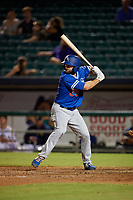 Oklahoma City Dodgers Shane Peterson (35) at bat during a Pacific Coast League game against the New Orleans Baby Cakes on May 6, 2019 at Shrine on Airline in New Orleans, Louisiana.  New Orleans defeated Oklahoma City 4-0.  (Mike Janes/Four Seam Images)