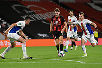 David Brooks of Bournemouth holds the ball away from Max Meyer of Crystal Palace during AFC Bournemouth vs Crystal Palace, Carabao Cup Football at the Vitality Stadium on 15th September 2020