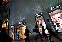 Shoppers at the Dior flagship store in the upmarket Ginza area of Tokyo. The Paris-based company spent six years scouting locations and spent an undisclosed amount to build the 3,283-square-meter (35,338 square feet) flagship store in the fashionable Ginza district. Japan is the biggest Gucci market in the world..