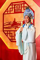 Wenzhou, Zhejiang, China.  Opera Singer Performing.