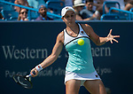 August 17,2019:   Ashleigh Barty (AUS) loses to Svetlana Kuznetsova (RUS) 6-2, 6-4, at the Western & Southern Open being played at Lindner Family Tennis Center in Mason, Ohio.  ©Leslie Billman/Tennisclix/CSM