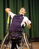 4-1-09, Renkum, NK rolstoeltennis, Robin Ammerlaan