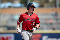 Jakson Reetz (15) of the Rochester Red Wings rounds the bases after hitting a home run against the Scranton/Wilkes-Barre RailRiders at PNC Field on July 25, 2021 in Moosic, Pennsylvania. (Brian Westerholt/Four Seam Images)