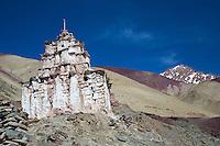 Prayer Chorten at Rumbak Village in the Zanskar, Ladakh