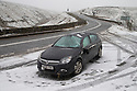12/01/17<br />  <br /> After heavy snow a car lies abandoned after rolling over  on the A57 Snake Pass near Glossop in The Derbyshire Peak District. <br /> <br /> All Rights Reserved F Stop Press Ltd. (0)1773 550665   www.fstoppress.com