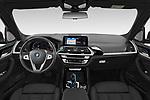 Straight dashboard view of a 2021 BMW iX3 Impressive 5 Door SUV
