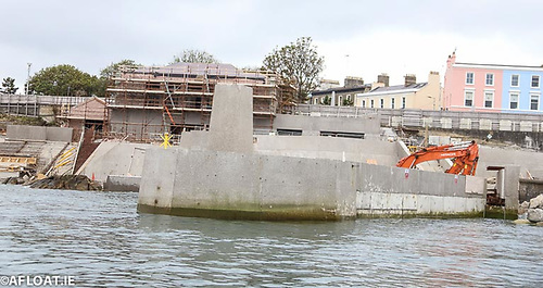 The Dun Laoghaire Baths site is currently being refurbished at the back of Dun Laoghaire's East Pier