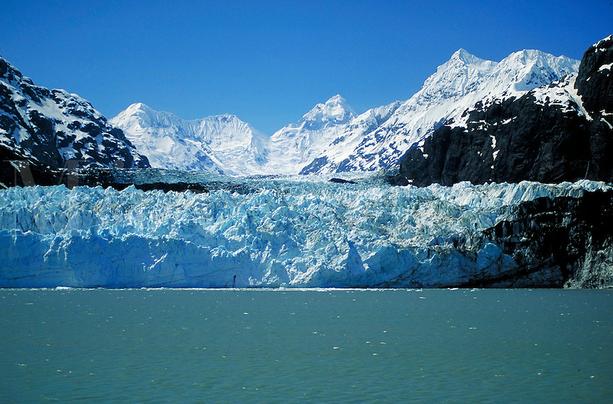 Margerie Glacier  Glacier Bay NationalPark  Southeast Alaska  Glacier Bay West Arm  Mt. Fairweather Mountains. Alaska, Glacier Bay National Park.