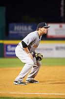 Trenton Thunder third baseman Dante Bichette (19) during a game against the Binghamton Mets on May 29, 2016 at NYSEG Stadium in Binghamton, New York.  Trenton defeated Binghamton 2-0.  (Mike Janes/Four Seam Images)