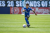 SAN JOSE, CA - APRIL 24: Eduardo Lopez #9 of the San Jose Earthquakes dribbles the ball during a game between FC Dallas and San Jose Earthquakes at PayPal Park on April 24, 2021 in San Jose, California.