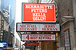Theatre Marquee unveiling for Bernadette Peters starring in  'Hello, Dolly!'