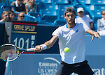 Joao Sousa (POR) loses to Andy Murray (GBR) 6-3, 6-3 at the Western & Southern Open in Mason, OH on August 13, 2014.