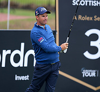 6th July 2021; North Berwick, East Lothian, Scotland;  Padraig Harrington Ireland on the 3rd tee during the Celebrity Pro-Am at the abrdn Scottish Open at The Renaissance Club, North Berwick, Scotland.