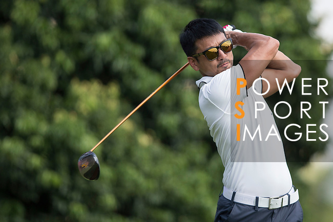 Ricky Chan tees off during the World Celebrity Pro-Am 2016 Mission Hills China Golf Tournament on 22 October 2016, in Haikou, China. Photo by Victor Fraile / Power Sport Images