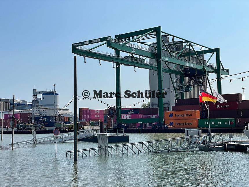 Gernsheimer Hafen - Gernsheim 18.07.2021: Hochwasser