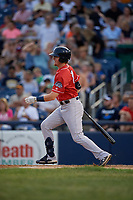 New Hampshire Fisher Cats Christian Williams (21) bats during an Eastern League game against the Trenton Thunder on August 20, 2019 at Arm & Hammer Park in Trenton, New Jersey.  New Hampshire defeated Trenton 7-2.  (Mike Janes/Four Seam Images)