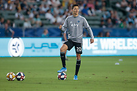 CARSON, CA - SEPTEMBER 15: Daniel Salloi #20 of Sporting Kansas City warming up during a game between Sporting Kansas City and Los Angeles Galaxy at Dignity Health Sports Complex on September 15, 2019 in Carson, California.