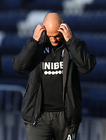 31st October 2020; Deepdale Stadium, Preston, Lancashire, England; English Football League Championship Football, Preston North End versus Birmingham City; Preston North End manager Alex Neill reacts after his team concede a second minute goal