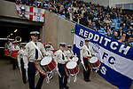 Coventry City 1 Birmingham City 1, 10/03/2012. Ricoh Arena, Championship. The Thirteenth Coventry Scout Group band taking the field to entertain fans at the Ricoh Arena, pictured before Coventry City hosted Birmingham City in an Npower Championship fixture. The match ended in a one-all draw, watched by a crowd of 22,240. The Championship was the division below the top level of English football. Photo by Colin McPherson.