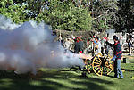 Crews fire canons during the 1812 Overature in the Pops in the Park concert with the Reno Philharmonic Orchestra at the Mormon Station State Park in Genoa, Nev., on Monday, July 4, 2011..Photo by Cathleen Allison
