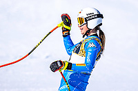 13th February 2021, Cortina, Italy; FIS World Championship Womens Downhill Skiing; Nadia Delago of Italy in action after the womens Downhill Race