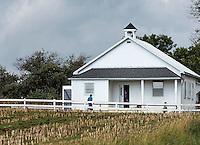 Amish one room school house, Gordonville, Lancaster, Pennsylvania, USA