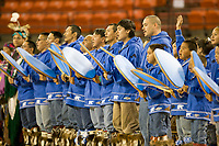 Drummers perform at the 2007 World Eskimo Indian Olympics held in Anchorage, Alaska.