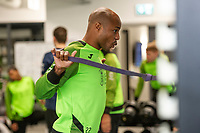 Andre Ayew of Swansea City in the gym during the Swansea City Training at The Fairwood Training Ground in Swansea, Wales, UK.  Wednesday 08 January 2020