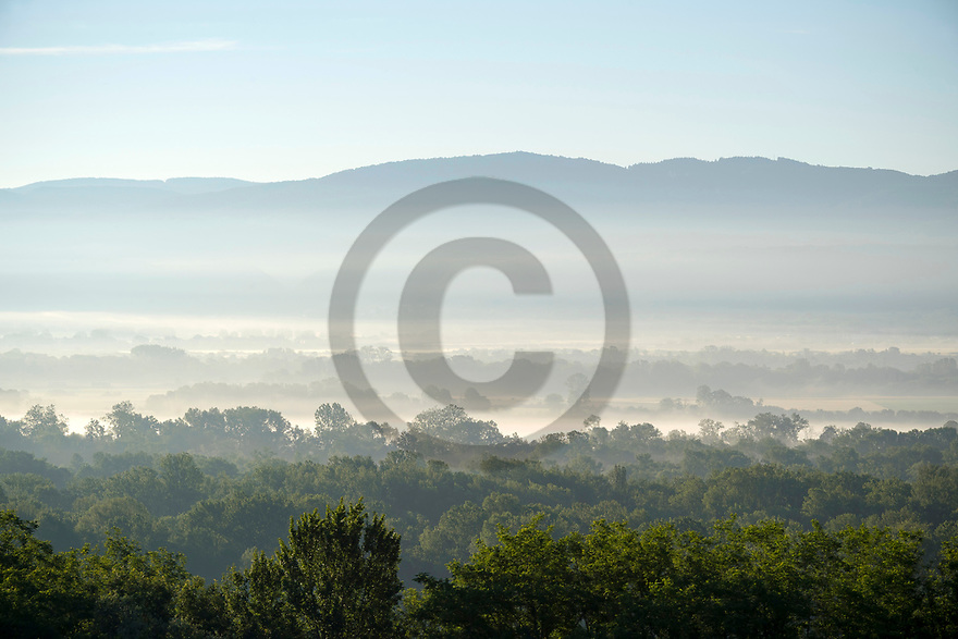 17/06/19 - CHATILLON LA PALUD - AIN - FRANCE - Illustration. La Plaine de l Ain vue de Chatillon la Palud - Photo Jerome CHABANNE