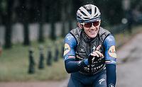 Yves Lampaert (BEL/Deceuninck-Quick Step) at the race start in Compiègne<br /> <br /> 118th Paris-Roubaix 2021 (1.UWT)<br /> One day race from Compiègne to Roubaix (FRA) (257.7km)<br /> <br /> ©kramon