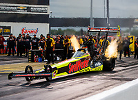 Sep 1, 2017; Clermont, IN, USA; NHRA top fuel driver Richie Crampton during qualifying for the US Nationals at Lucas Oil Raceway. Mandatory Credit: Mark J. Rebilas-USA TODAY Sports