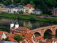 Blick vom Schloss, Heidelberg, Baden-Württemberg, Deutschland, Europa<br /> View vom castle, Heidelberg, Baden-Wuerttemberg, Germany, Europe
