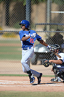 Los Angeles Dodgers outfielder Jacob Scavuzzo (15) during an Instructional League game against the Chicago White Sox on October 8, 2013 at Camelback Ranch Complex in Glendale, Arizona.  (Mike Janes/Four Seam Images)