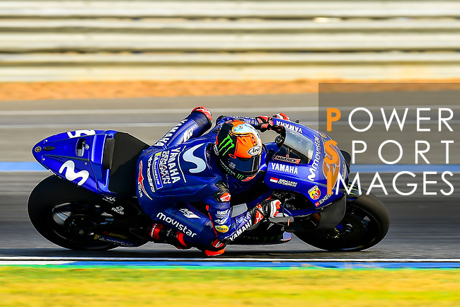 Movistar Yamaha MotoGP's rider Maverick Vinales of Spain rides during the MotoGP Official Test at Chang International Circuit on 16 February 2018, in Buriram, Thailand. Photo by Kaikungwon Duanjumroon / Power Sport Images