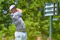 5th June 2021; Dublin, Ohio, USA; Bo Hoag (USA) watches his tee shot on 1 during the Memorial Tournament Rd3 at Muirfield Village Golf Club on June 5, 2021 in Dublin, Ohio.