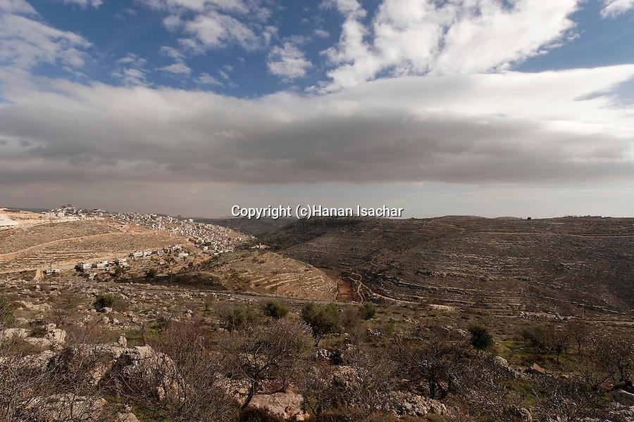 Judea, Hebron Mountain.  A view of Artas from settlement Givat Hadagan